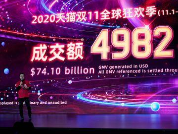 雙11-阿里巴巴-天貓-京東-銷售額-電商-速遞員-香港財經時報HKBT