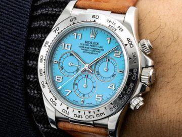 綠松石漆面鉑金Daytona-Rolex-勞力士--香港蘇富比-鐘錶拍賣-Rolexdaytona