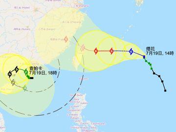 查帕卡與煙花產生藤原效應 天文台改發三號風球 澳門:八號風球可能性中等至較高 美國:或急劇增強為颱風