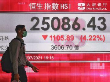 港股跌-黃金比率支持位-25000點-長實-港燈-中電-藍籌-香港財經時報HKBT