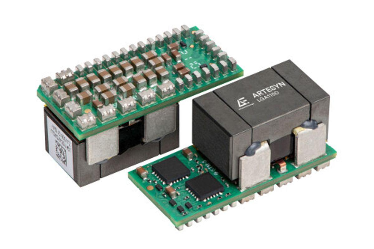 Advanced Energy LGA110D 的直流/直流電源轉換效率優於同級產品,而且其功率密度也較同類產品高 30%